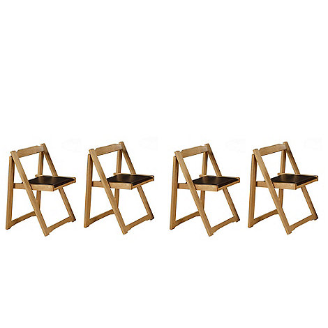 Debenhams - Set of 4 oak effect +Stowaway+ chairs