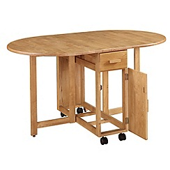 Debenhams - Oak effect 'Stowaway' extending table