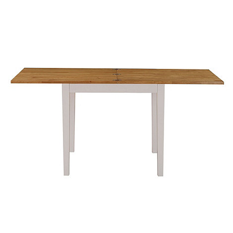 Debenhams - Oak and white +Fenton+ flip-top table
