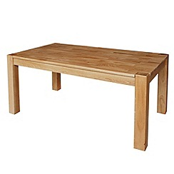 Debenhams - Light oak 'Ontario' fixed-top table