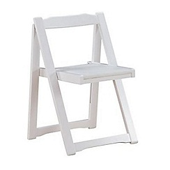 Debenhams - Set of 4 white 'Stowaway' chairs