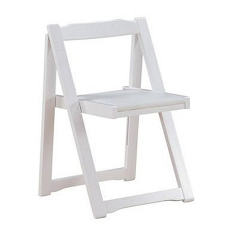 Debenhams - Set of 4 white +Stowaway+ chairs