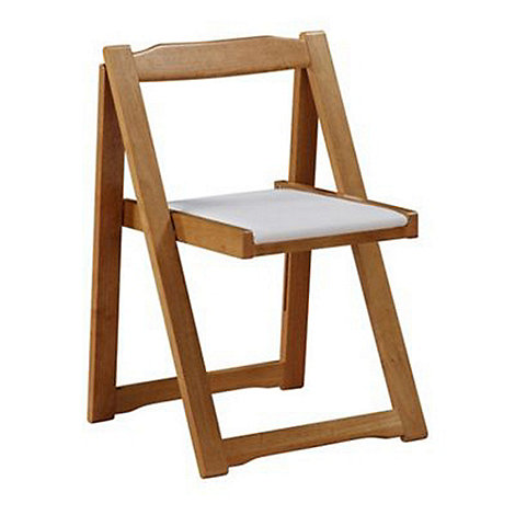 Debenhams - Set of 4 white and oak effect +Stowaway+ chairs