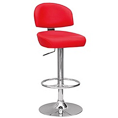 Debenhams - Red 'Brooklyn' gas lift bar stool