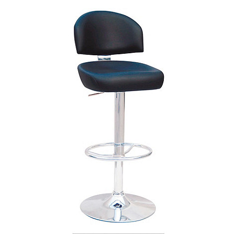 Debenhams - Black +Brooklyn+ gas lift bar stool