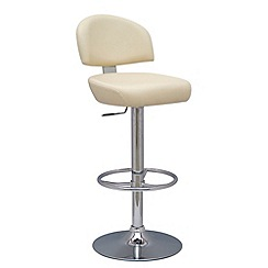 Debenhams - Cream 'Brooklyn' gas lift bar stool