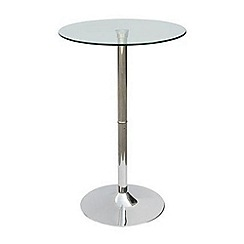 Debenhams - Chrome and glass 'Cucina' breakfast table