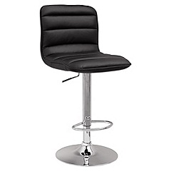 Debenhams - Black 'Philadelphia' gas lift bar stool