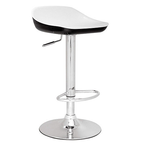 Debenhams - Black and white +Carolina+ gas lift bar stool