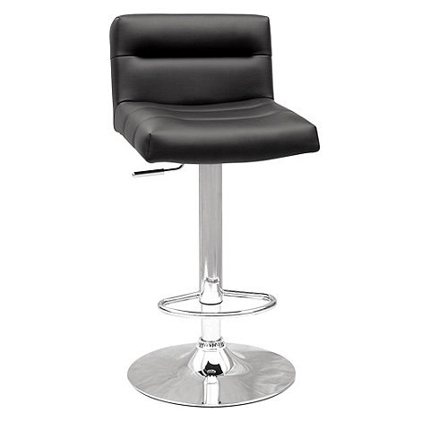 Debenhams - Black +Baltimore+ gas lift bar stool