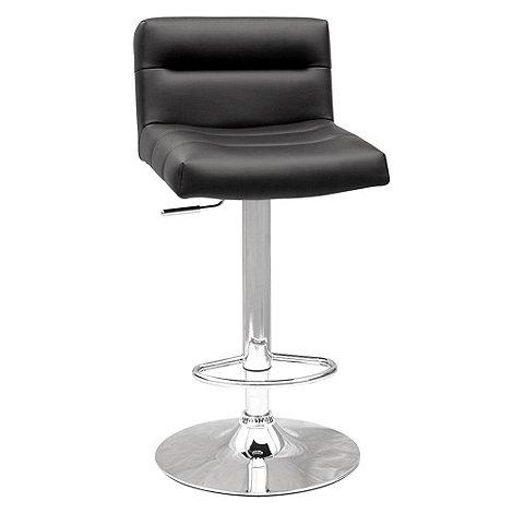 Debenhams - Black +Baltimore+ gas lift bar stool