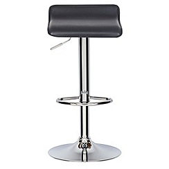 Debenhams - Black 'Moda' gas lift bar stool