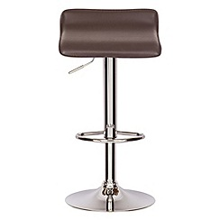 Debenhams - Brown 'Moda' gas lift bar stool