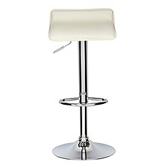 Debenhams - Cream 'Moda' gas lift bar stool