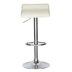 Debenhams - Cream 'Moda' gas lift bar stool
