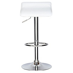 Debenhams - White 'Moda' gas lift bar stool