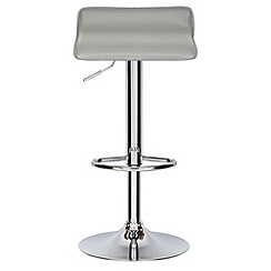 Debenhams - Grey 'Moda' gas lift bar stool