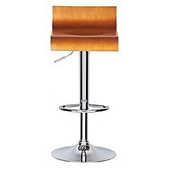 Debenhams - Wooden 'Corsica' gas lift bar stool