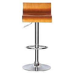 Debenhams - Wooden 'Corsica' gas lift bar stool
