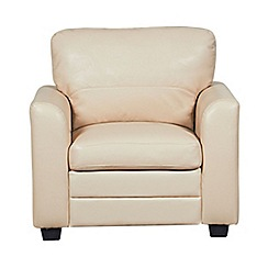 Debenhams - Cream bonded leather 'Lola' armchair