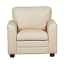 Debenhams - Bonded leather 'Lola' armchair