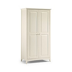 Debenhams - Soft white 'Leo' double wardrobe