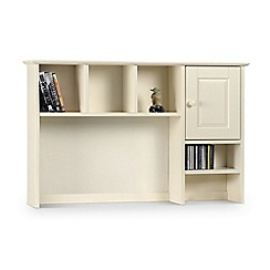 Debenhams - Soft white 'Barcelona' shelving unit