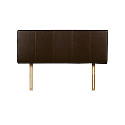 Debenhams - Brown upholstered 'Vienna' headboard