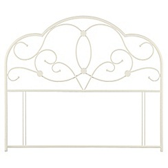 Julian Bowen - Stone white 'Arabella' headboard