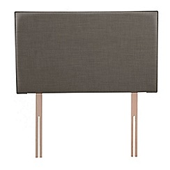 Airsprung - Grey flat-weave fabric 'Loxley' headboard