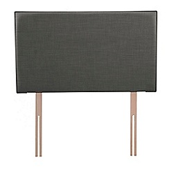 Airsprung - Dark grey flat-weave fabric 'Loxley' headboard
