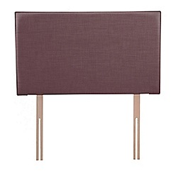 Airsprung - Purple flat-weave fabric 'Loxley' headboard