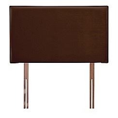 Airsprung - Brown faux suede 'Loxley' headboard