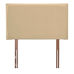 Airsprung - Cream faux suede 'Loxley' headboard