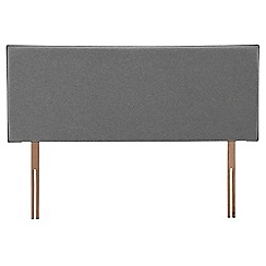 Airsprung - Grey super-soft fabric 'Loxley' headboard