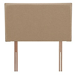 Airsprung - Beige super-soft fabric 'Loxley' headboard