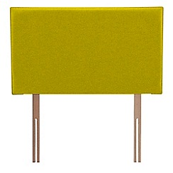 Airsprung - Yellow super-soft fabric 'Loxley' headboard