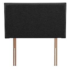 Airsprung - Black super-soft fabric 'Loxley' headboard