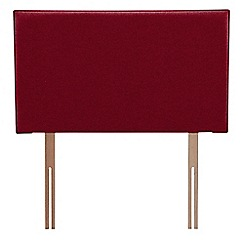 Airsprung - Red super-soft fabric 'Loxley' headboard