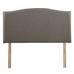 Airsprung - Grey flat-weave fabric 'Overdale' headboard