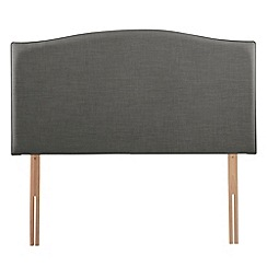 Airsprung - Dark grey flat-weave fabric 'Overdale' headboard