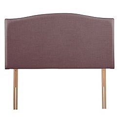 Airsprung - Purple flat-weave fabric 'Overdale' headboard