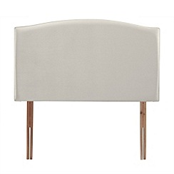 Airsprung - Soft white velvet 'Overdale' headboard