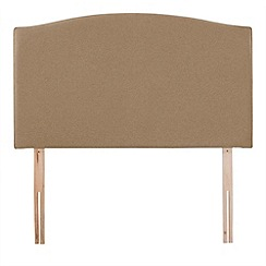 Airsprung - Beige super-soft fabric 'Overdale' headboard