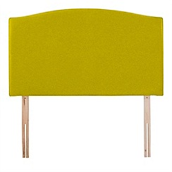 Airsprung - Yellow super-soft fabric 'Overdale' headboard