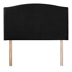 Airsprung - Black super-soft fabric 'Overdale' headboard