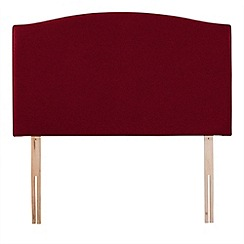 Airsprung - Red super-soft fabric 'Overdale' headboard