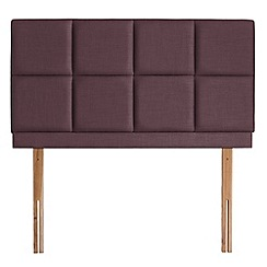 Airsprung - Purple flat-weave fabric 'Portsmoor' headboard