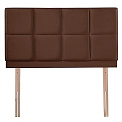Airsprung - Brown faux suede 'Portsmoor' headboard
