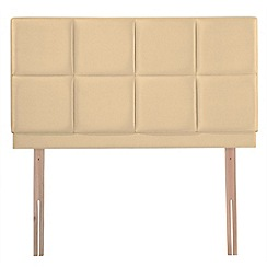 Airsprung - Cream faux suede 'Portsmoor' headboard